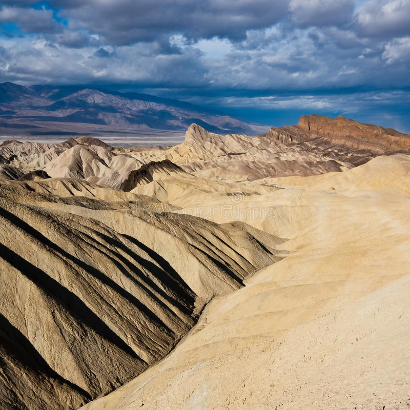 Death Valley Badlands stock images