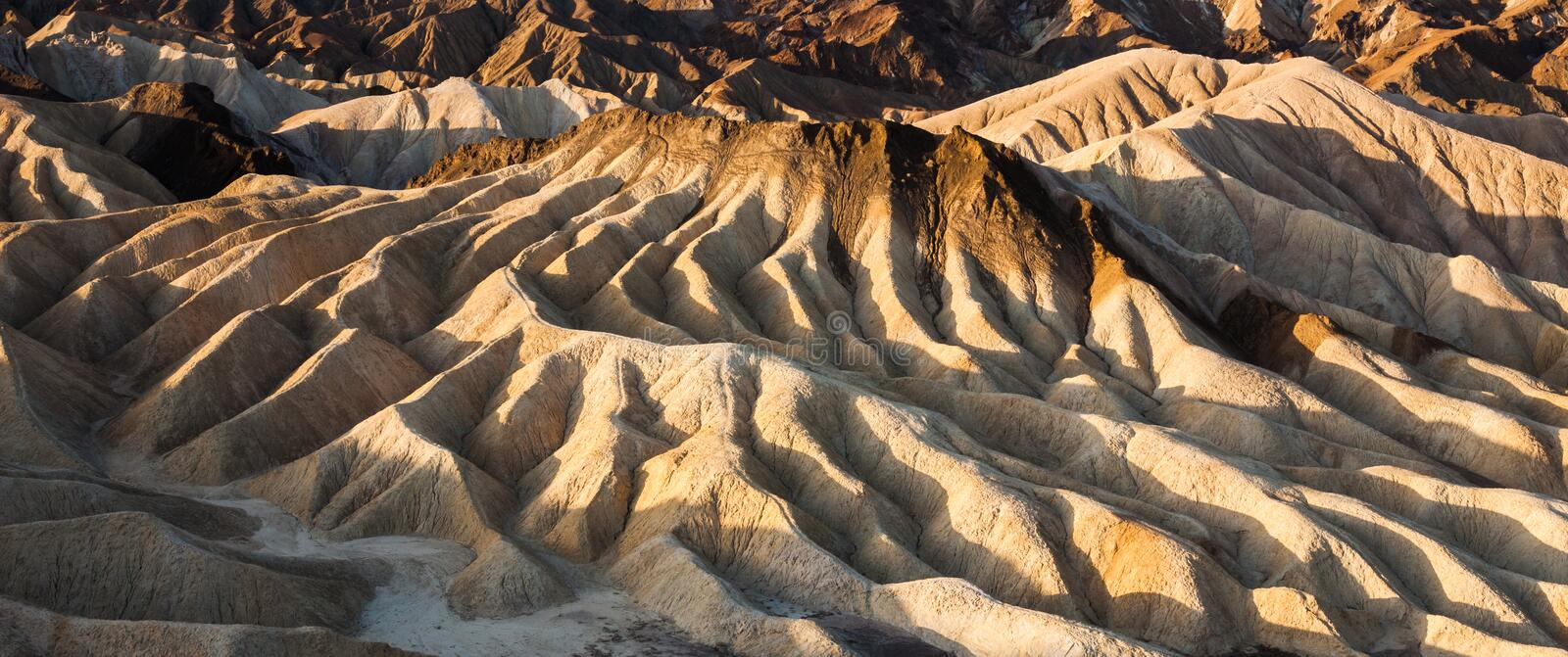 Death Valley Badlands stock photography