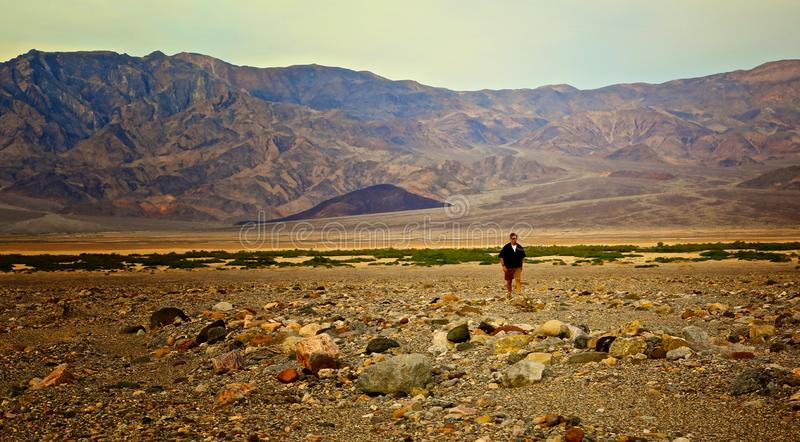 Death Valley man royaltyfria bilder