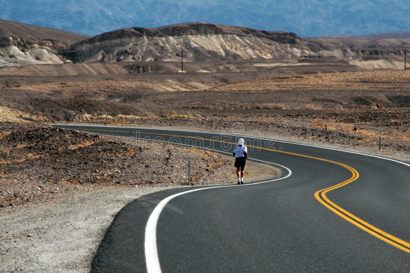 Death Valley marathon stock photography