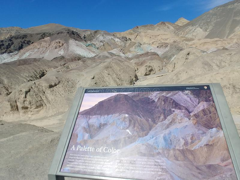 Death Valley National Park Artists Palette royalty free stock image
