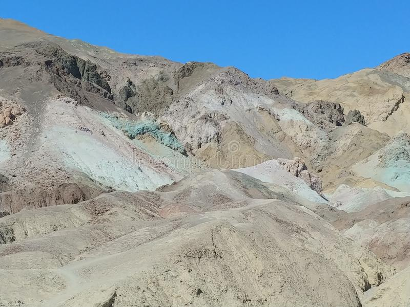 Death Valley National Park Artists Palette royalty free stock photography