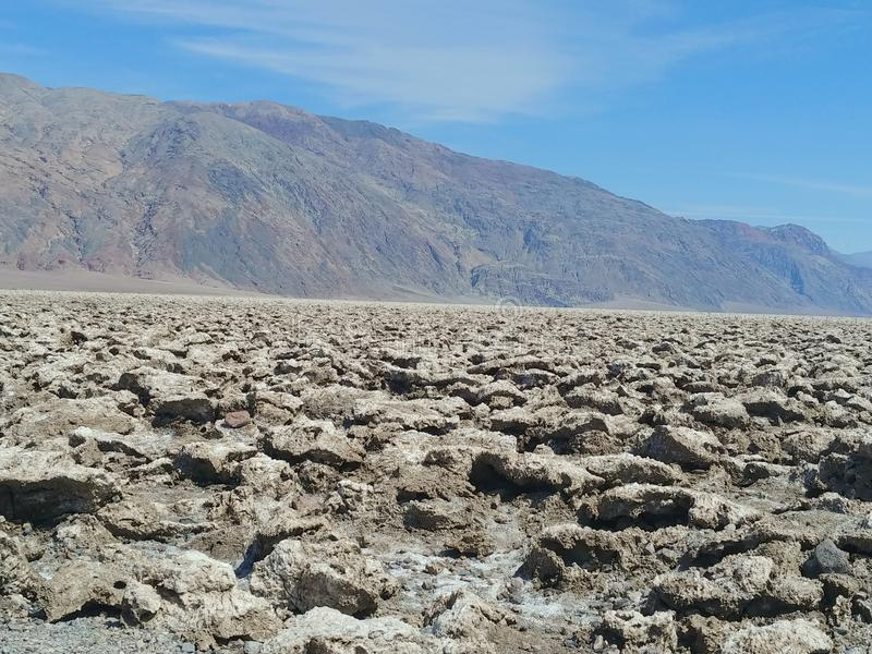 Death Valley National Park Devils Golfcourse royalty free stock image