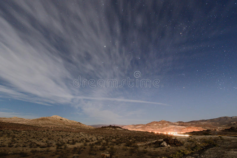 Death valley national park in night time stock image