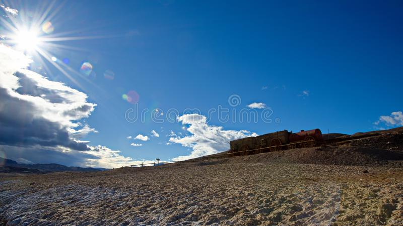 Death Valley National Park rain clouds. Death valley national park landscapes. clouds, rocks, desertfloor stock images