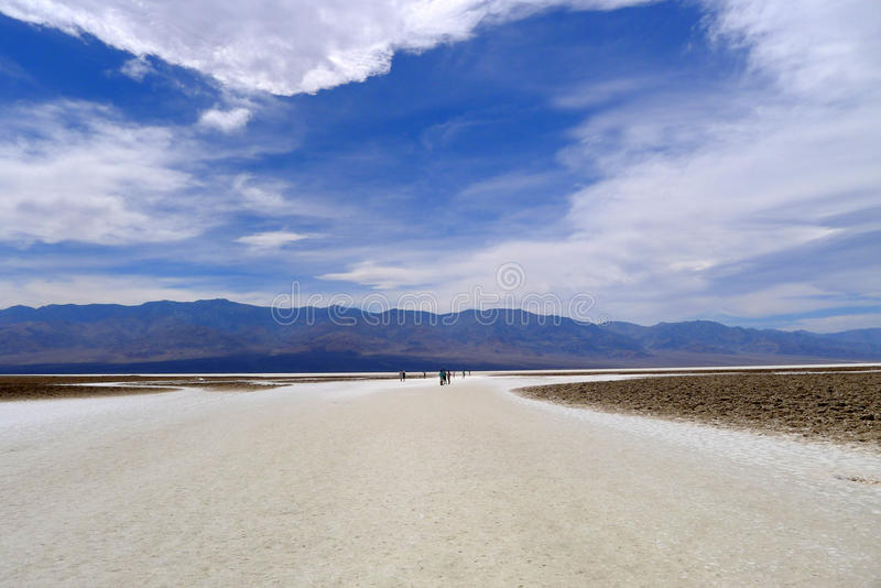 Death Valley National Park. Is a national park in the United States in California and Nevada and is located east of the Sierra Nevada, occupying an interface stock image