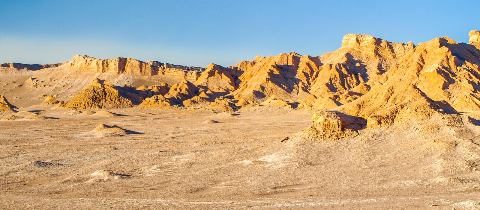 Death valley od Atacama Desert near San Pedro de Atacama, Chile stock photography