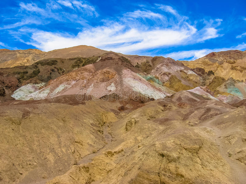 Death Valley: Paleta Colorfull de los artistas fotografía de archivo libre de regalías