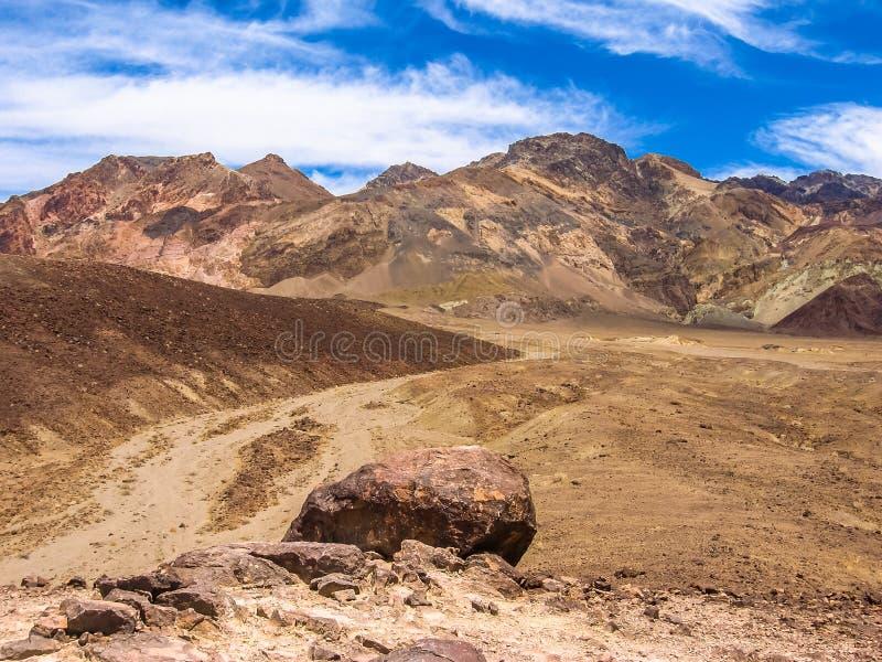 Death Valley: Paleta Colorfull de los artistas fotografía de archivo