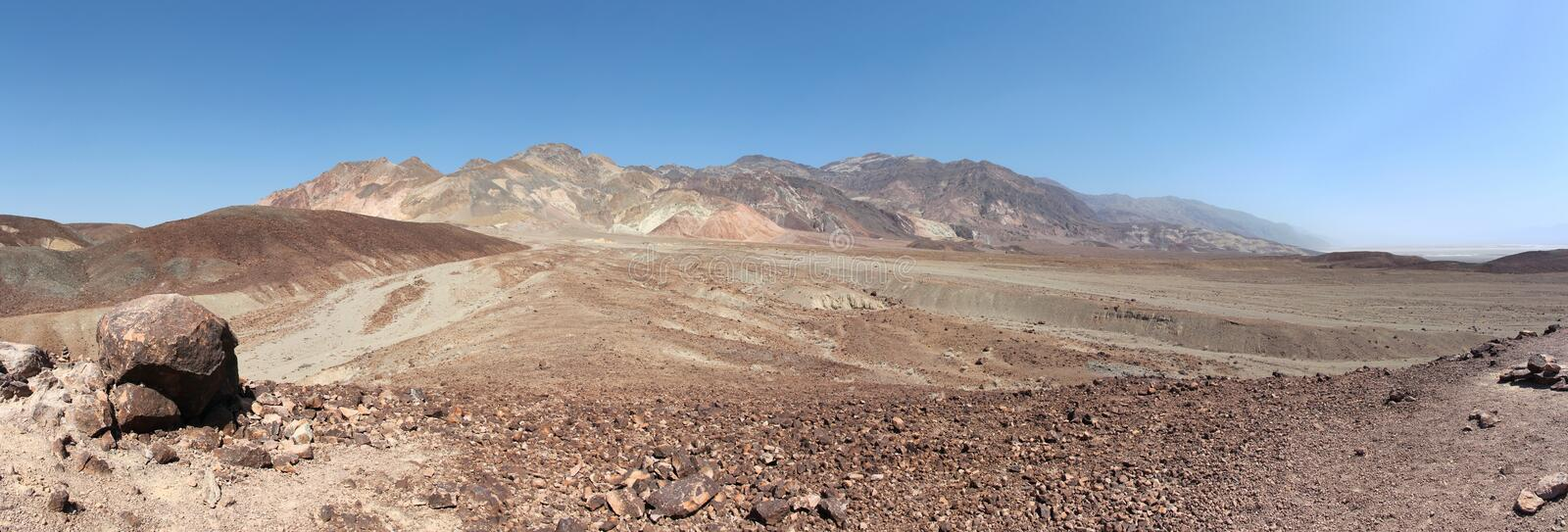 Death Valley panorama. Desert landscape of California. Mojave Desert in Death Valley National Park royalty free stock photography