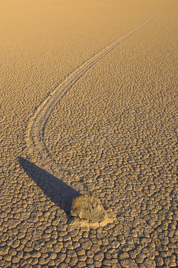 Death Valley's Moving Rocks stock photos