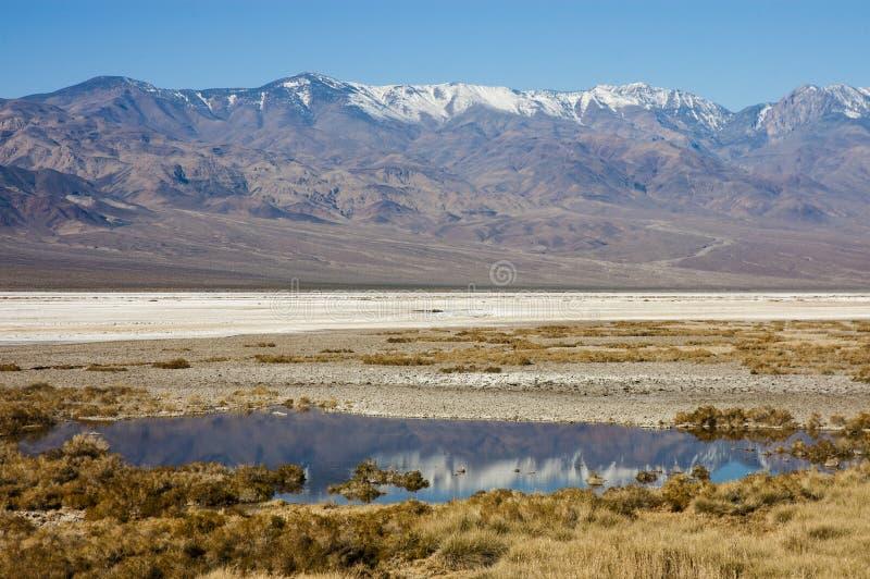 Download Death Valley seasonal lake stock photo. Image of snow - 19621274