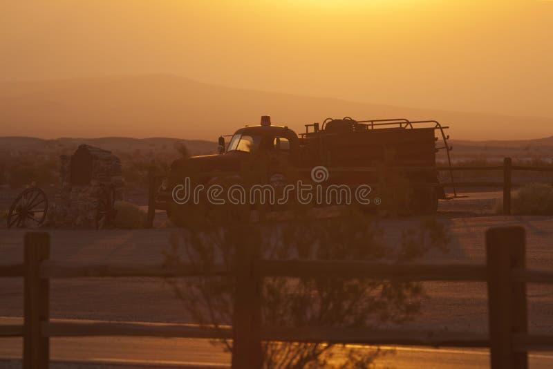 Death Valley soluppgång arkivfoto