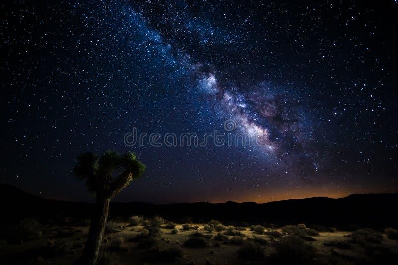 Death Valley unter der Milchstraße stockfoto