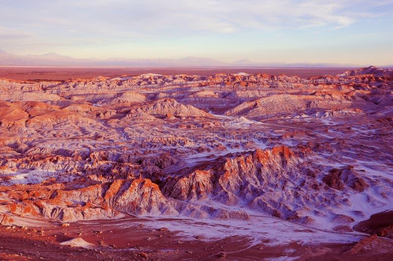 Death Valley - Valle de Muerte en el desierto de Atacama fotos de archivo