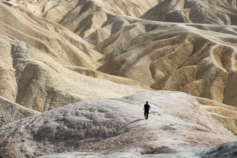 Death Valley Zabriskie Punkt stockbilder