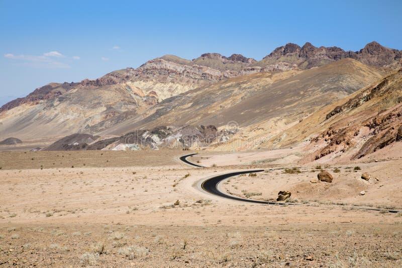 Death- Valleystraße lizenzfreies stockbild