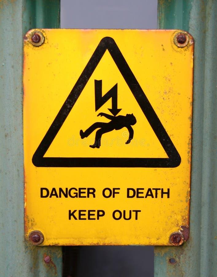 Death warning royalty free stock photo