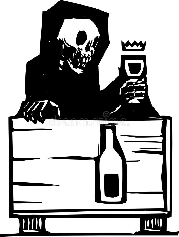 Death And Wine Stock Vector
