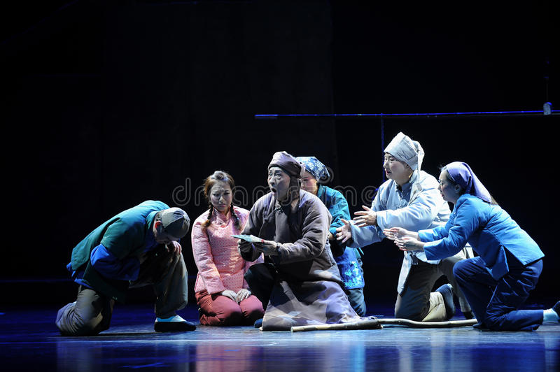 Deathbed testament- Jiangxi opera a steelyard. Jiangxi opera a steelyard is adapted from a true story: the last century fortys, the protagonists father runs an stock image