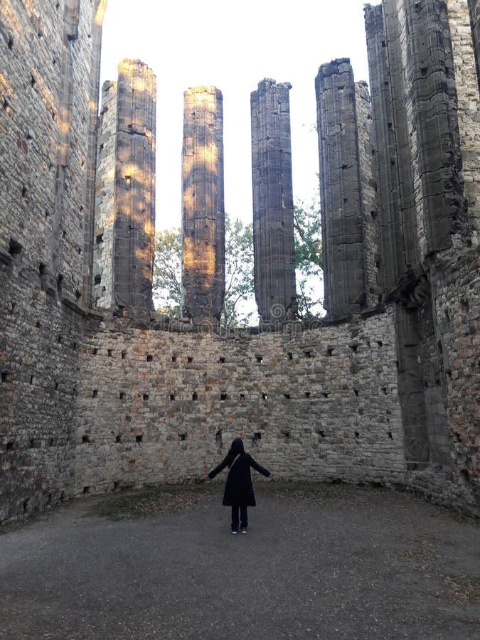 Deathes góticos de la estatua de los tejedores del osario de Praga de la energía mística barroca antigua del arte foto de archivo
