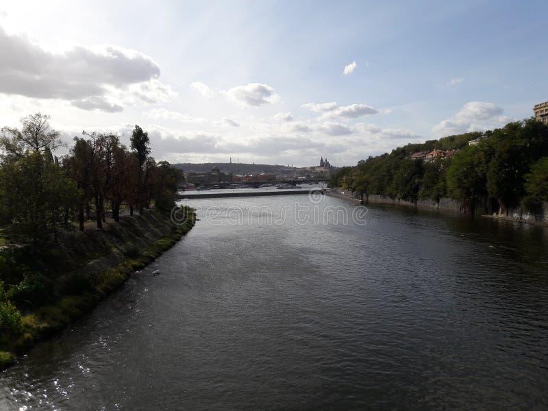 Deathes góticos renovados río de la estatua de los tejedores del osario de Praga foto de archivo