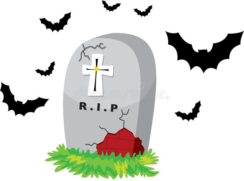 Deathstone and cross vector illustration