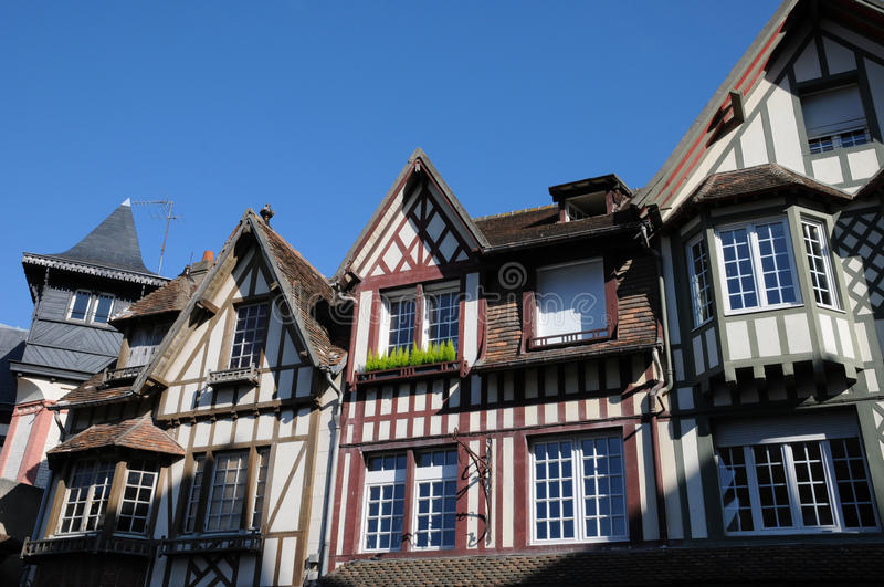 Deauville. The town of Deauville in Normandy royalty free stock photo