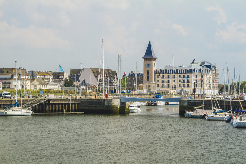 Deauville the yacht harbor. The yacht harbor Deauville in Normandy royalty free stock photos