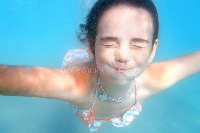 Debajo del agua fotografía de archivo libre de regalías