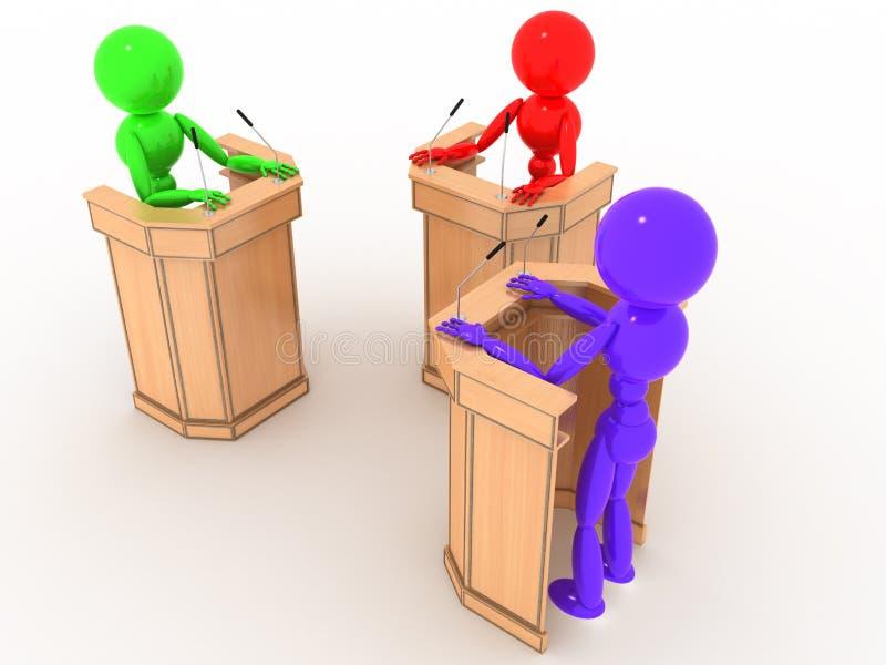 Debat ludzie w stojakach -6 royalty ilustracja