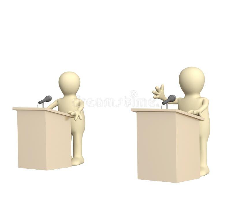 debata royalty ilustracja