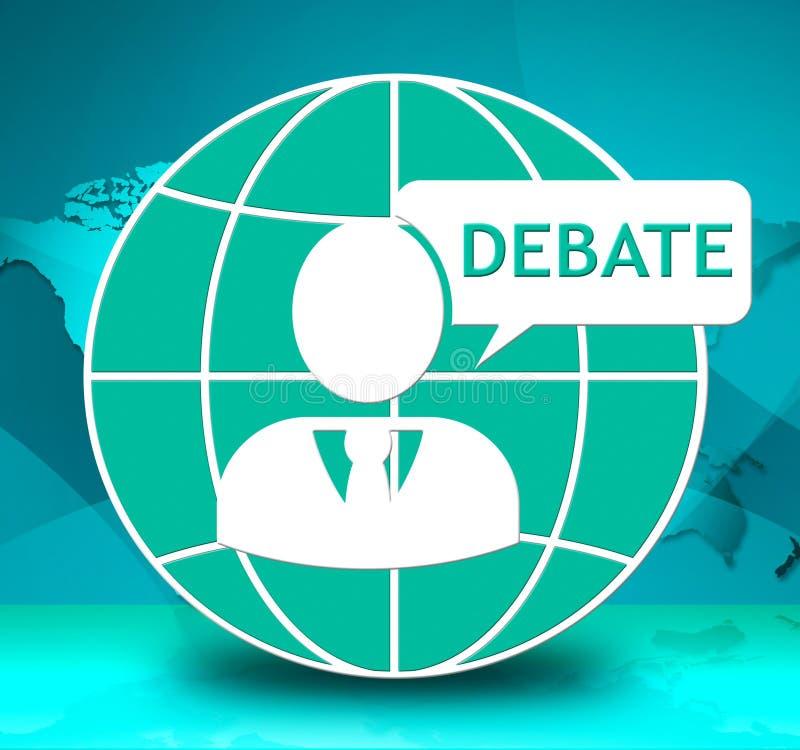 Debata Pokazuje Grupowej dyskusi dialog 3d ilustrację royalty ilustracja