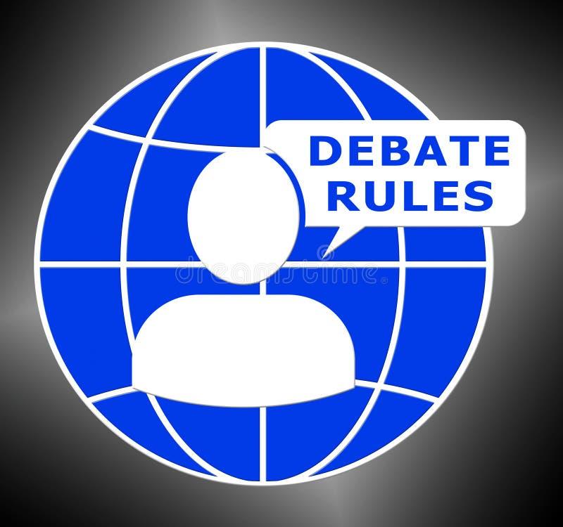 Debata Rządzi przedstawienie dialog przewdonika 3d ilustrację royalty ilustracja