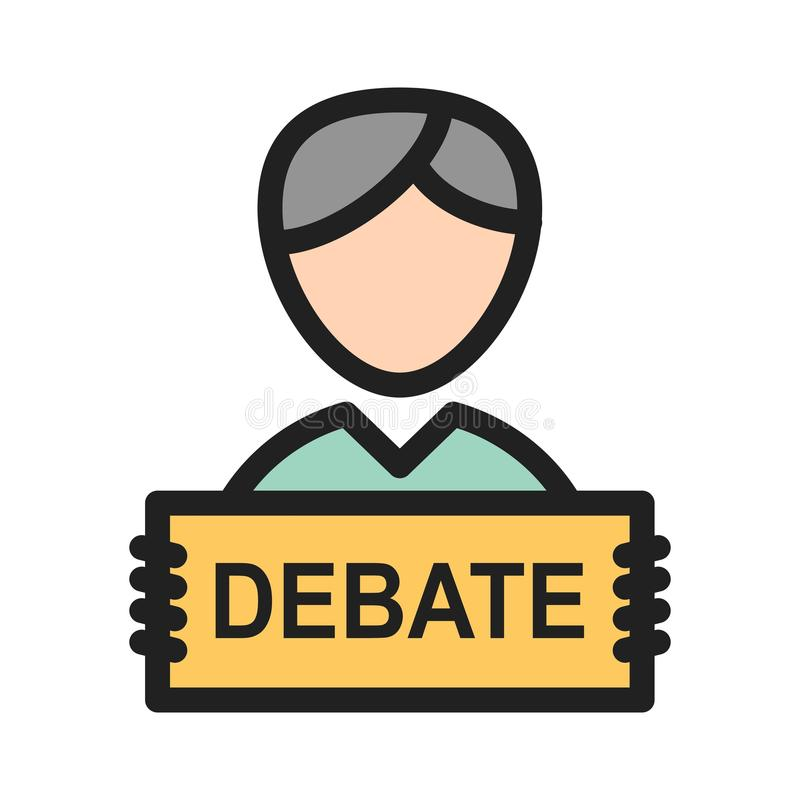 debate ilustração royalty free