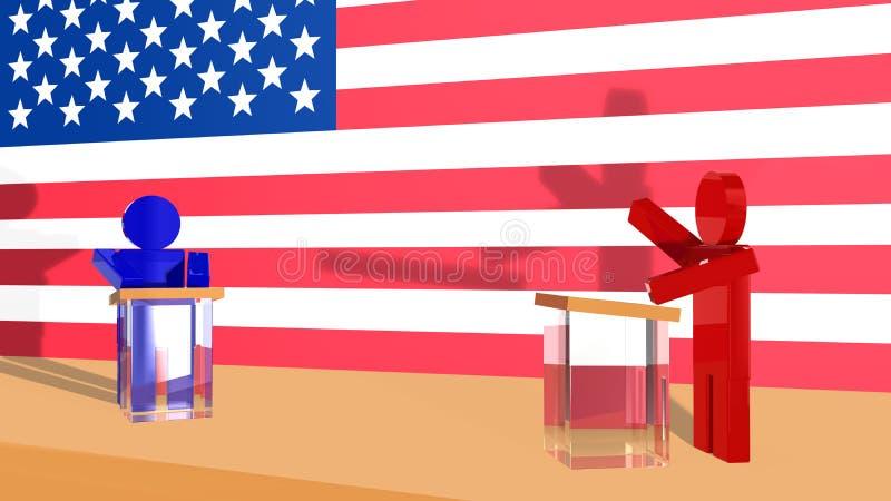 Debate político nos EUA ilustração royalty free