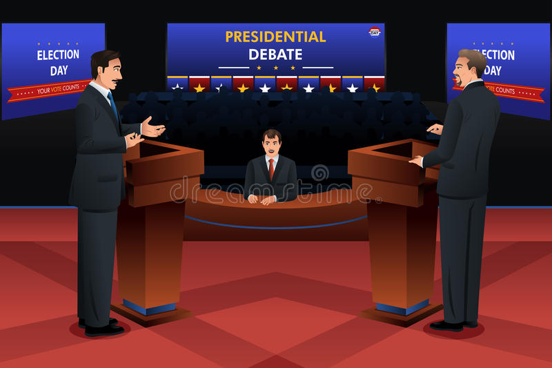Debate presidencial ilustração stock