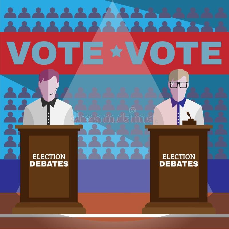 Debates da eleição ilustração do vetor