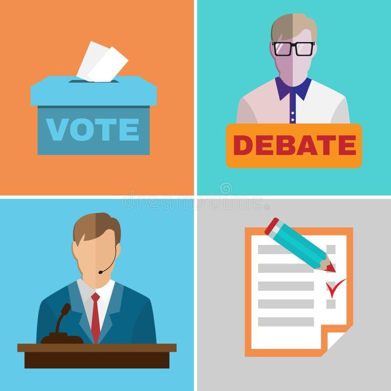 Debates da eleição ilustração stock