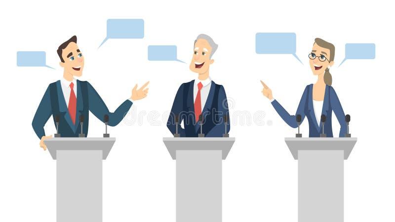 Debates na eleição ilustração stock
