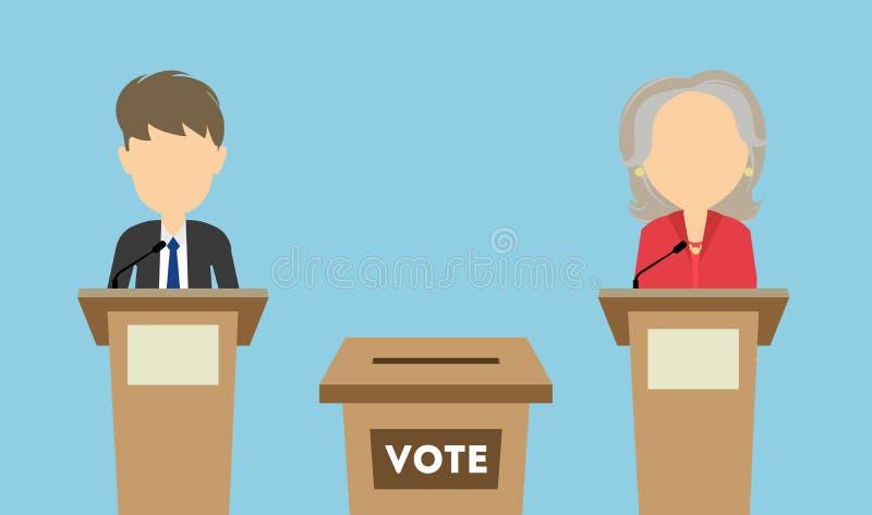 Debates na eleição ilustração do vetor