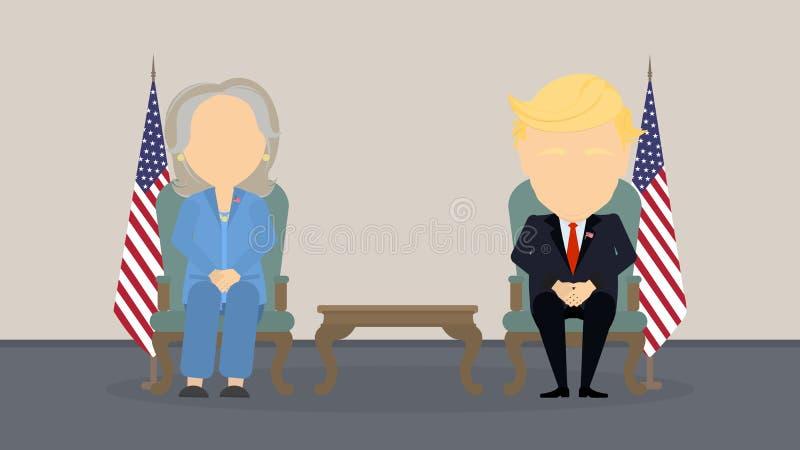 Debates na eleição ilustração royalty free