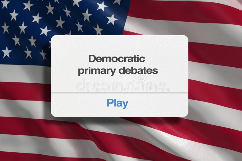 Debates preliminares Democráticas mim ilustração royalty free