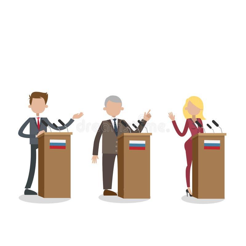 Debatten auf Wahl vektor abbildung