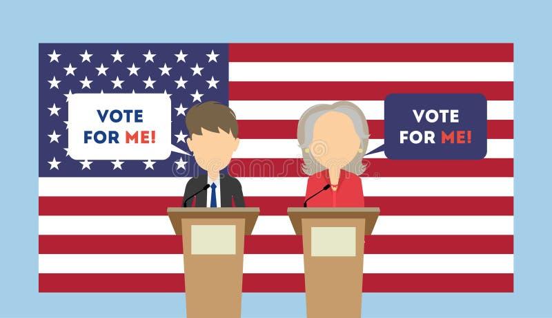 Debatten auf Wahl stock abbildung