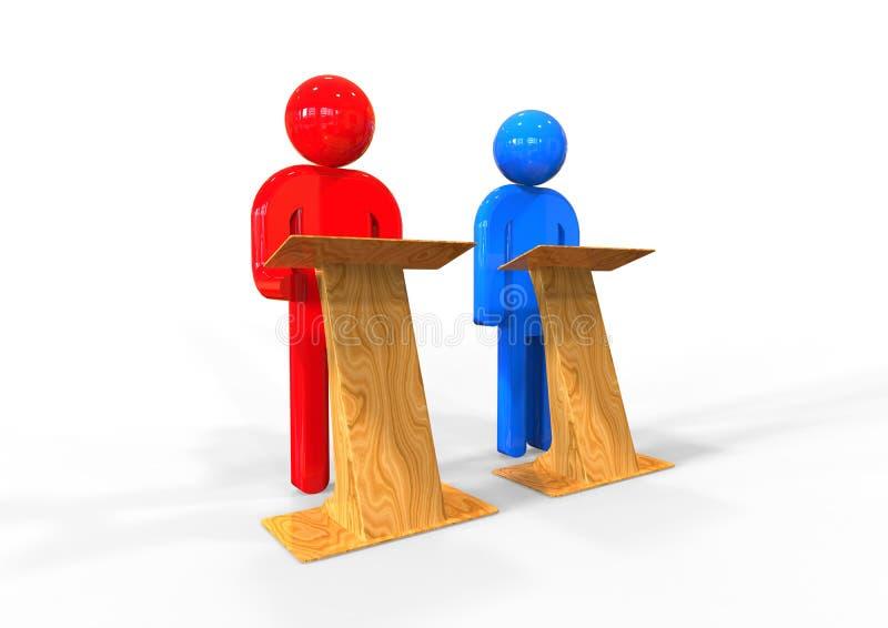 Debattenkonzept lizenzfreie abbildung