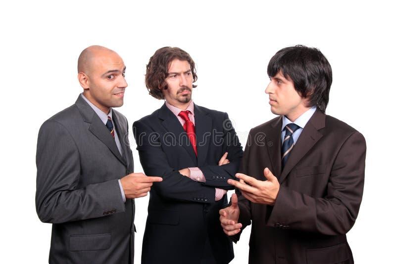 debattera män för affär royaltyfria bilder