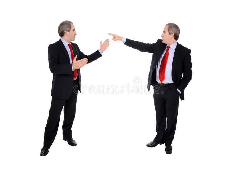 debattera män för affär royaltyfri bild