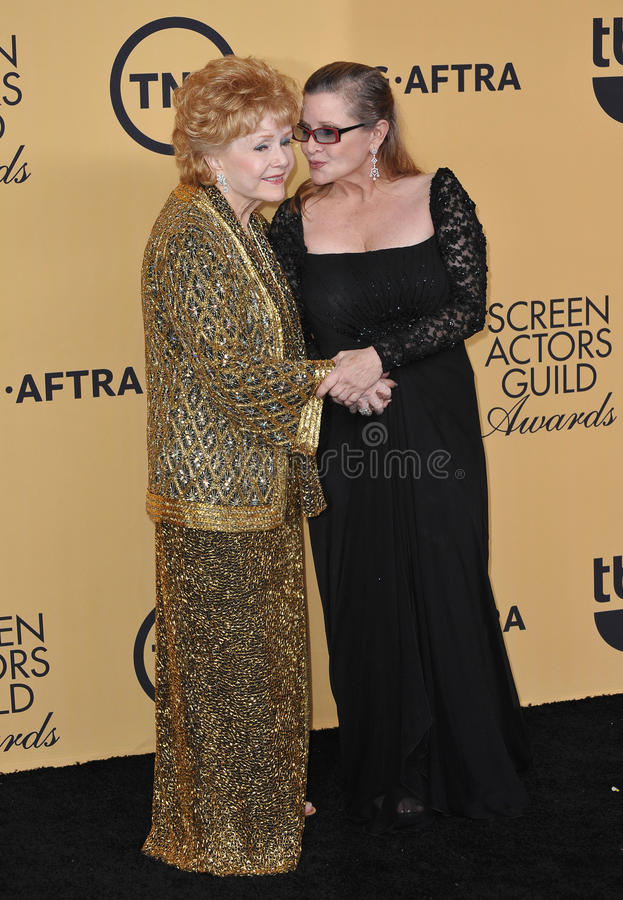 Debbie Reynolds et Carrie Fisher photographie stock