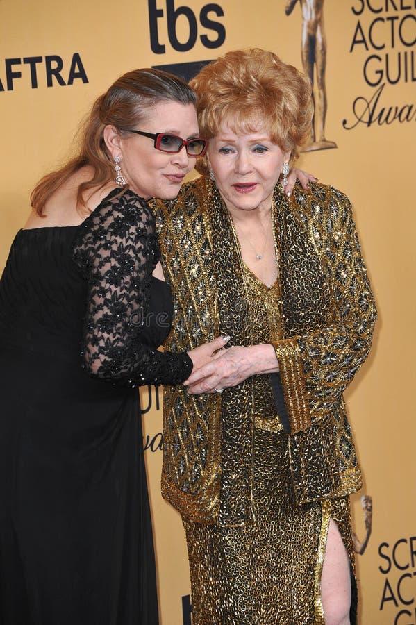 Debbie Reynolds et Carrie Fisher photographie stock libre de droits